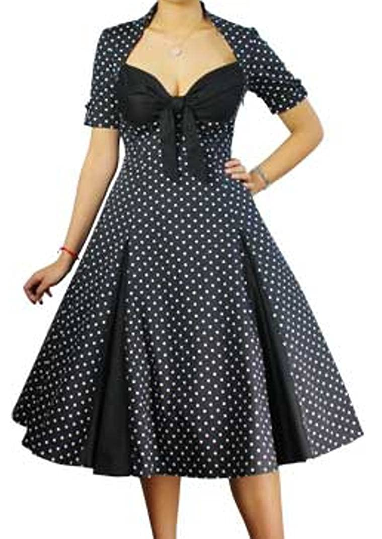 1f81ce54cc7 This fantastic dress features polka-dots on the dress with a solid colored  bust