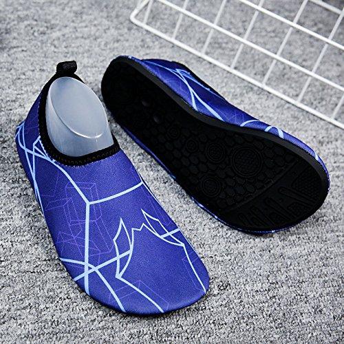natación de secado y amantes SK13 Lucdespo pies pegada natación rápido playa azul piel la luz Zapatos descalzos zapatos negro de zapatos calzado InZHzwdZ8