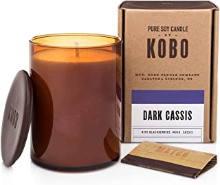 product image for Kobo Pure Soy Candles Dark Cassis and Gute Wick Snuffer (2 Piece Bundle)