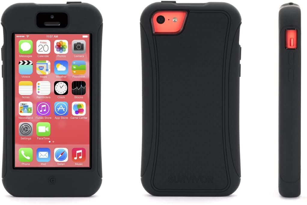 Griffin Slim Survivor Case for Apple iPhone 5C - Black