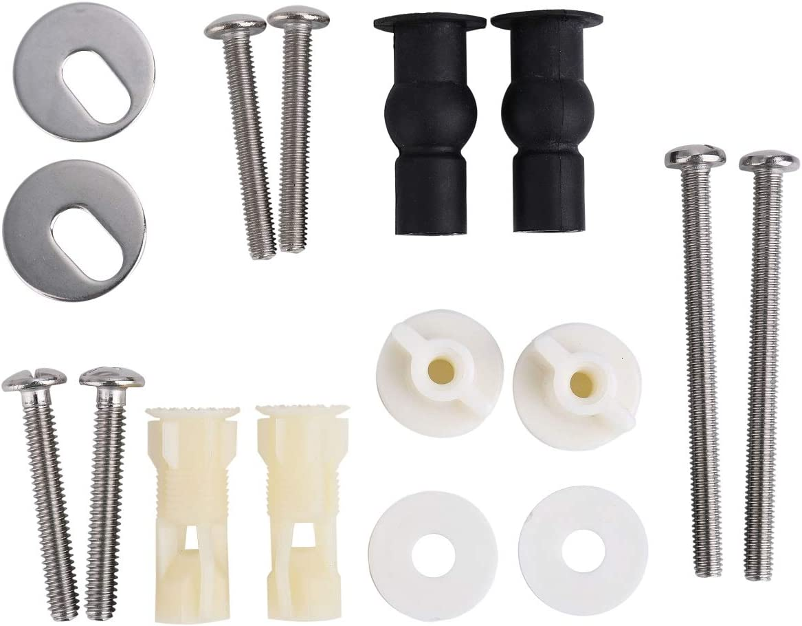 Rubber Metal Toilet Seat Screw Mounting Hardware Bolt Fixing Toilet Lid Tools