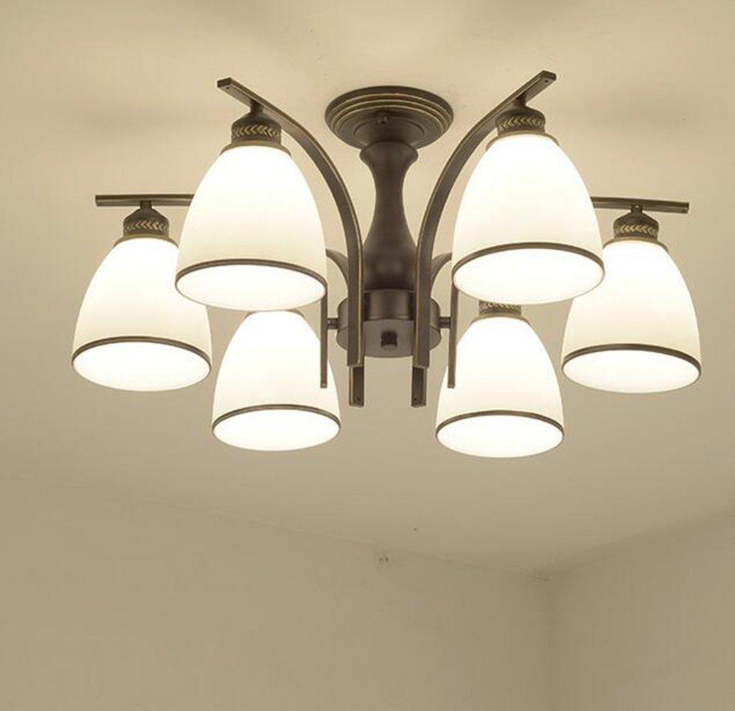 XUEXIN Luxury Contemporary Chandelier, 6-head light European Ceiling Lamp for Bedroom Living Room Restaurant Lighting