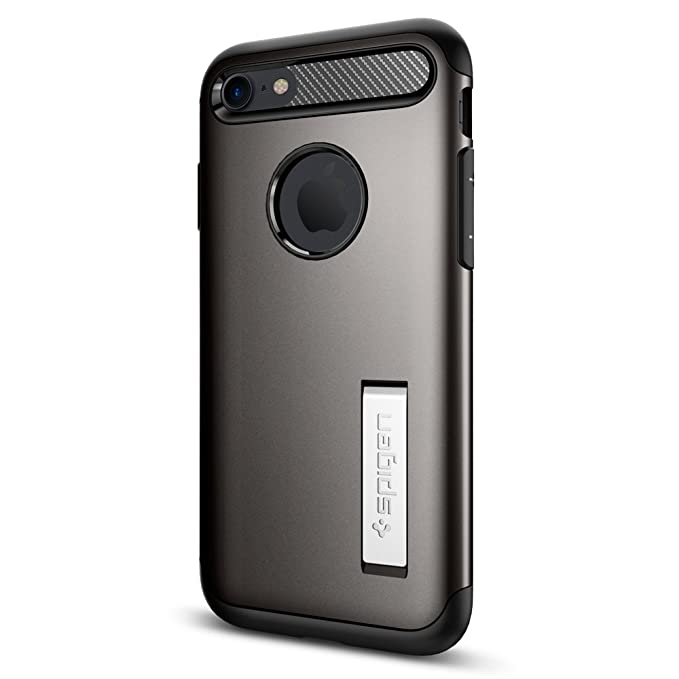 312964c7485 Spigen Slim Armor iPhone 7   iPhone 8 Case with Kickstand and Air Cushion  Technology Hybrid
