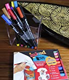 Permanent Fabric Markers Ð Pack of 10 high quality fine-tip pens. Water-based