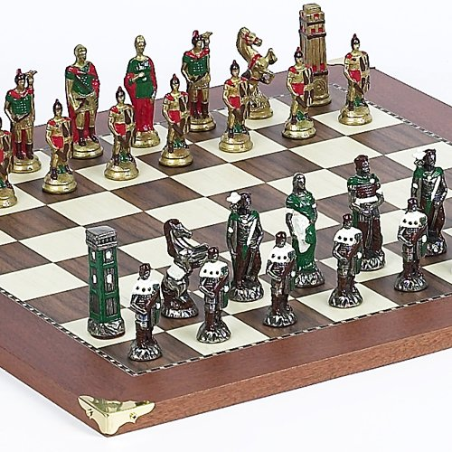 Lorenzini Hand Painted Chessmen from Italy & Astor Place Board from Spain