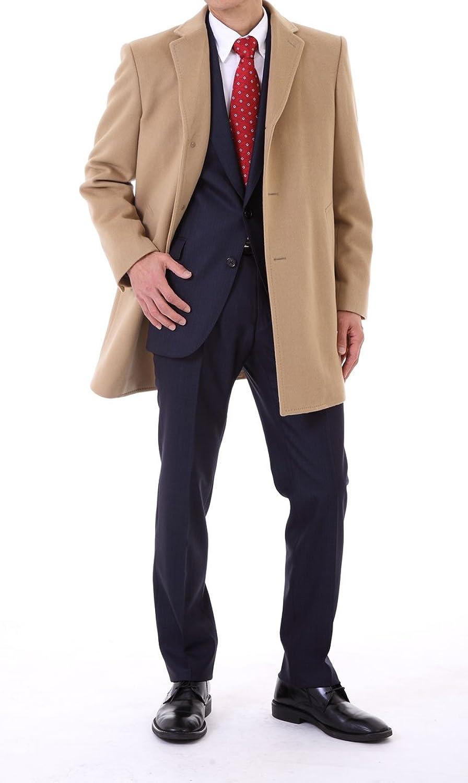 日本製 カシミヤ100% チェスターコート<キャメル> B00NRKEPQA  キャメル (LL寸)  コート丈89肩幅49袖丈65,5半胴57