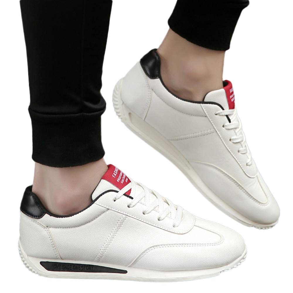 Casual Men's Flat Sports Shoes Mixed Colors Breathable Wear-Resistant Sneakers