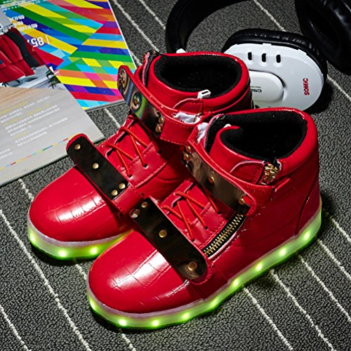 LED Kids Sneakers Adult Light Child Sneaker Fashion Boy Light Red Up for LED Shoes up Girls Kids YqwYrTO