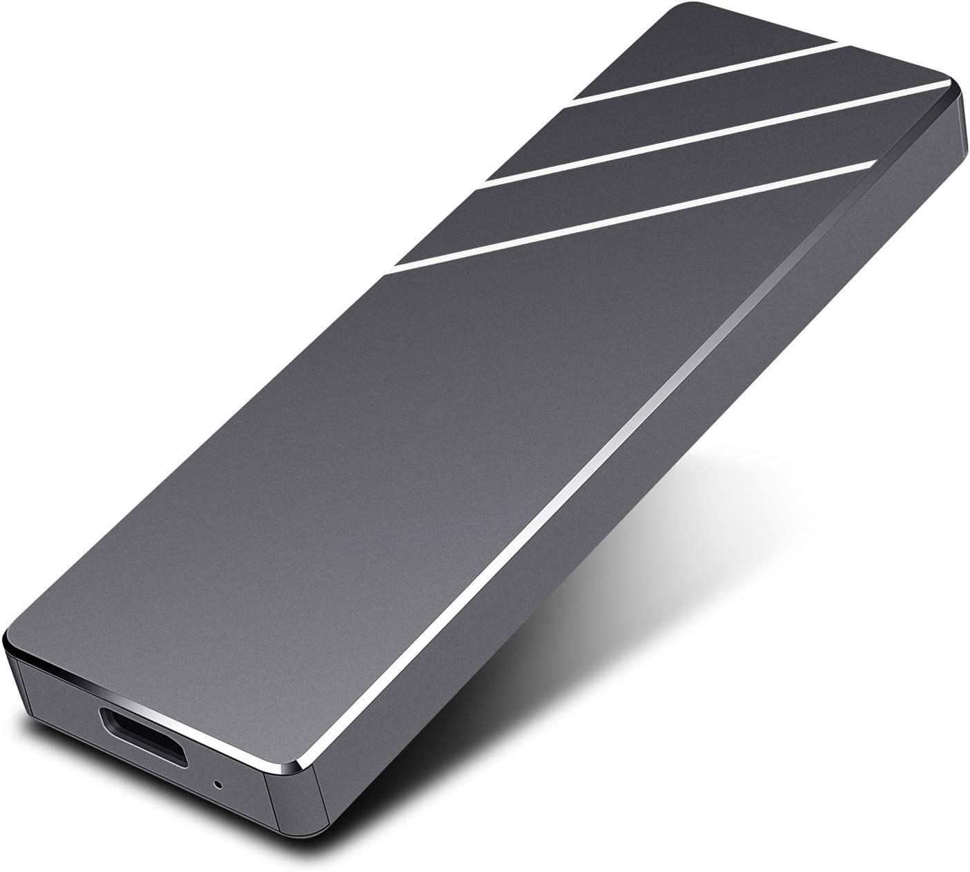 External Hard Drive Portable USB 3.1 Slim External Hard Drive 1TB Compatible with PC, Mac, MacBook, Desktop, Laptop, Chromebook, Xbox One, Xbox 360 (Black, 1TB)