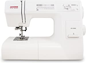 Janome HD3000 Heavy-Duty Sewing Machine with 18 Built-In Stitches + Hard Case