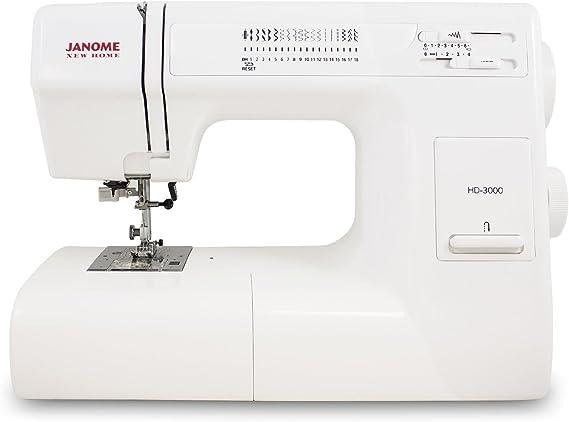 Janome HD3000 máquina de coser de alta resistencia con 18 puntadas ...