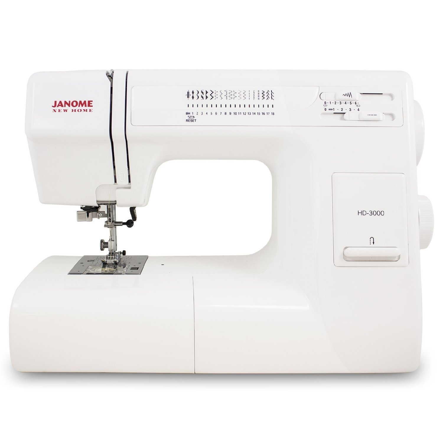 Janome Hd3000 Heavy Duty Sewing Machine With 18 Built In Stitches