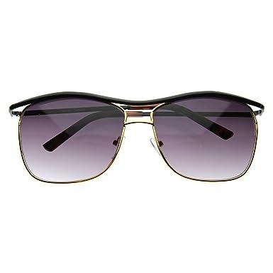 zerouv modern thin square wire frame aviator sunglasses black gold - Wire Frame Sunglasses