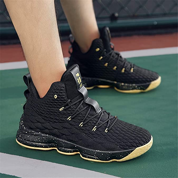 Amazon.com | CocoBeen Mens Womens High Top Basketball Shoes Plus Size Lace Up Cushioning Shockproof Couple Athletic Outdoor Sport Shoes | Basketball