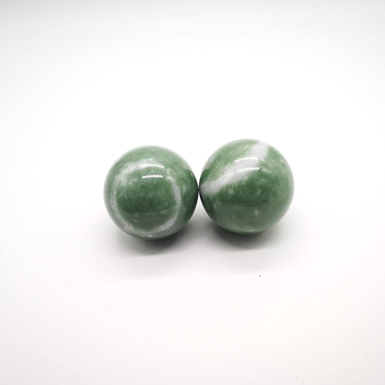 LIINGINUITY 1.97 Inches Greenish Stone Baoding Balls
