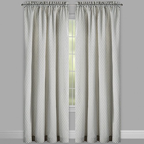WAVERLY Traditions by Georgette Ivory 2-Panel Pair Drapery Set Window Curtains, 104