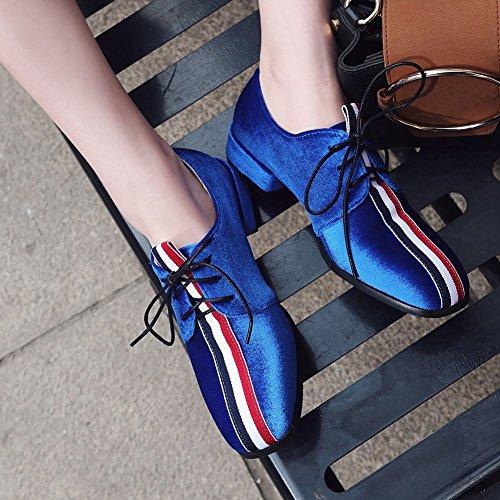 Charm Foot Womens Comfort Multicolor Scarpe Con Il Tacco Basso Blu