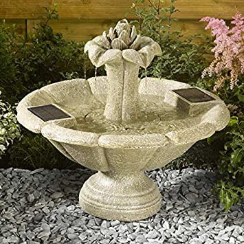 Smart Solar Lotus Flower Fountain Water Feature Amazoncouk