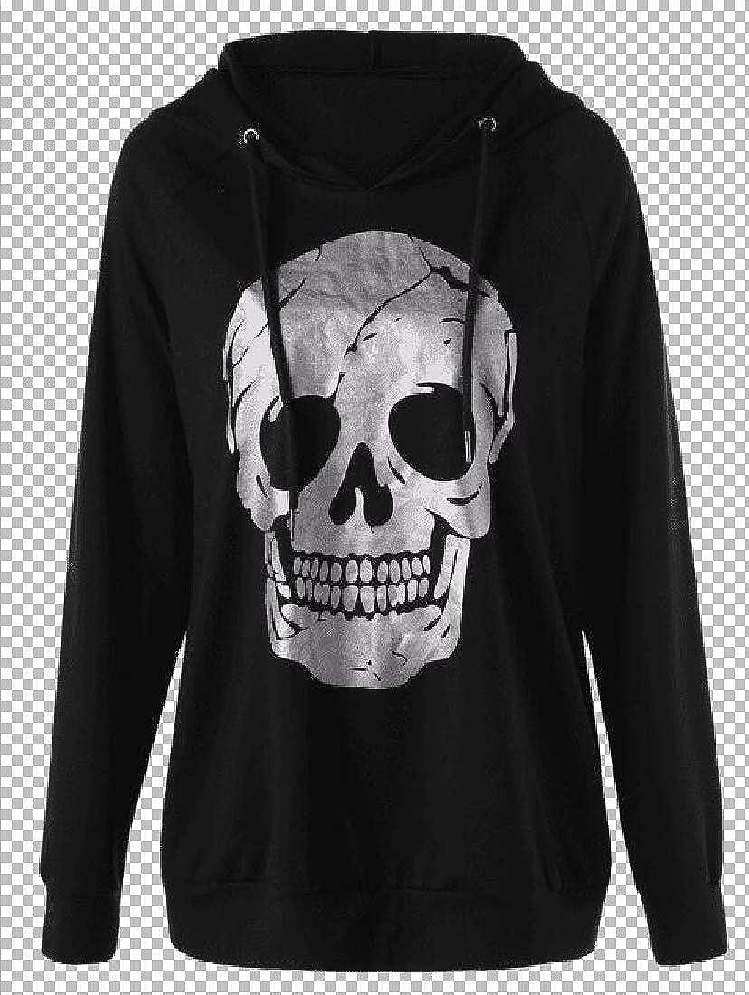 Joe Wenko Womens Juniors Pullover Print Hooded Skull Tops Sweatshirts