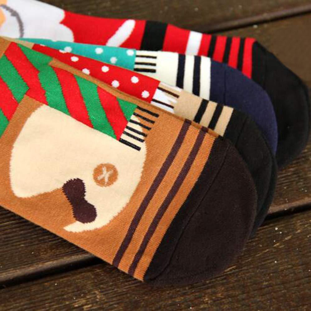 Amazon.com: Pausseo Unisex Women and Men Christmas Comfortable Cotton Socks Short Ankle Sock Antislip Warm Fleece Gripper Slippers Stockings Keep Warm ...