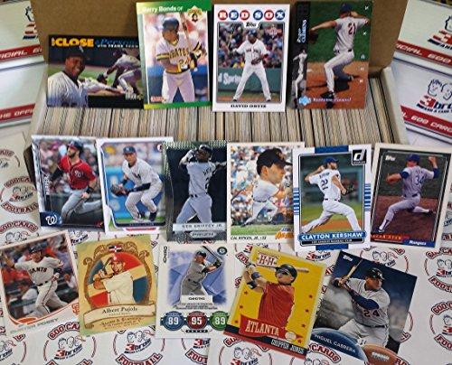 Superstars Baseball Card (600 card lot of baseball cards starter kit with guaranteed superstars)