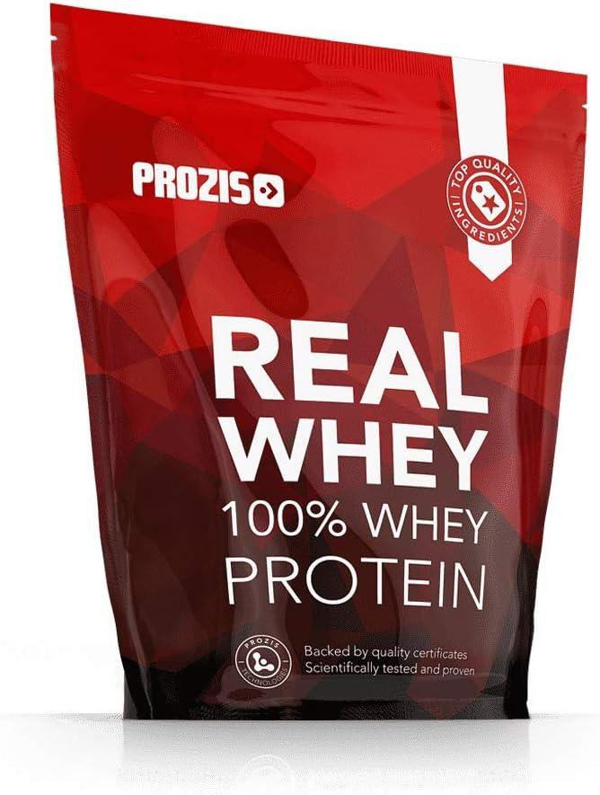 Prozis 100% Real Whey Protein, Suplemento Puro en Polvo con un Perfil Completo de Aminoácidos y Rico en BCAA, Vainilla - 1000 g