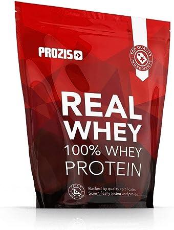 Prozis 100% Real Whey Protein, Suplemento Puro en Polvo con un Perfil Completo de Aminoácidos y Rico en BCAA, Crema catalana - 1000 g