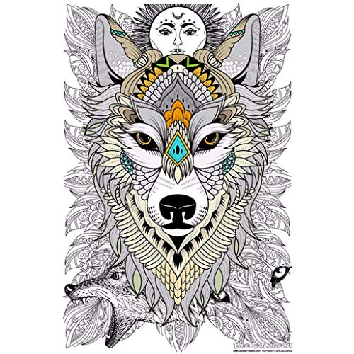 Great2bColorful Original Big Coloring Poster (24x 36) Timber Wolf