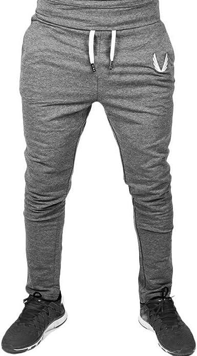 Bestow-pantalones de chándal con Cremallera para Hombres Ropa ...