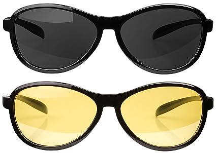 Pearl antideslumbrante gafas: 2 unidades, Gafas de visión nocturna polarizadas (filtro UV Gafas