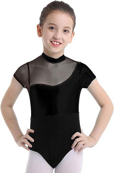 Girl Turtle Neck Ballet Dance Leotard Kid Gym Bodysuit Unitard Dancewear Costume