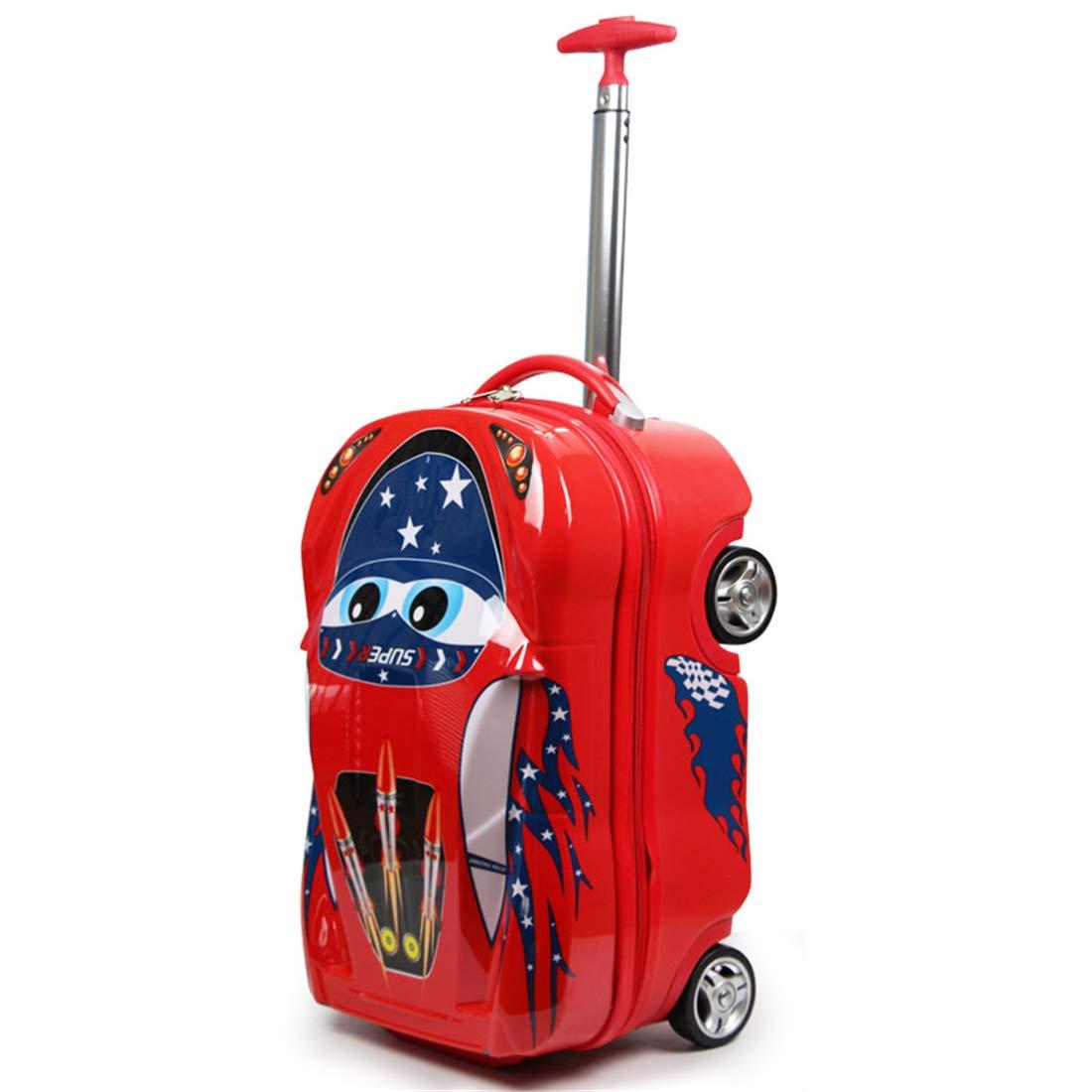子供用スーツケース漫画カー荷物トロリーケース18インチ   B07H67S3R4