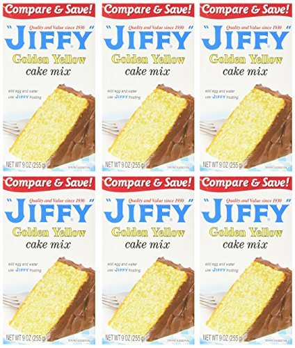 Jiffy Golden Yellow Cake Mix 9-oz Boxes (Pack of 6) by Jiffy (Jiffy Yellow Cake Mix compare prices)