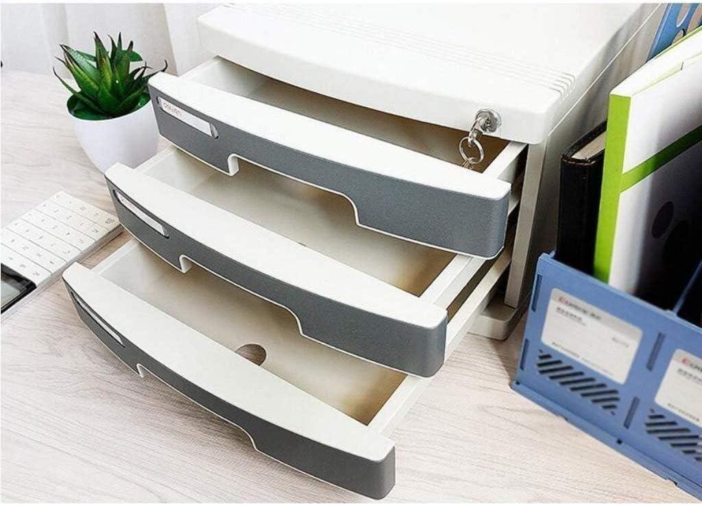 30.2x39.5x21.8cm Home Office Furniture File Cabinets Comfortable Hand-Pull Design Fluffy Office Fashion Sense Landslide Track Drawer Independent Storage Plastic