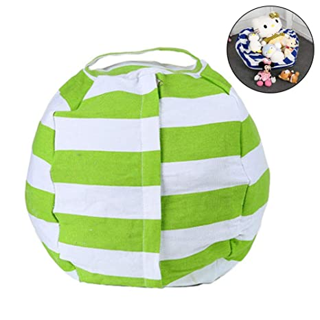 Awesome W Shig 24 Inch Stuffed Animal Storage Bean Bag Chair With Handle Extra Large Empty Bean Bags Cover Kids Toy Storage Bag Clothes Organizer Pdpeps Interior Chair Design Pdpepsorg