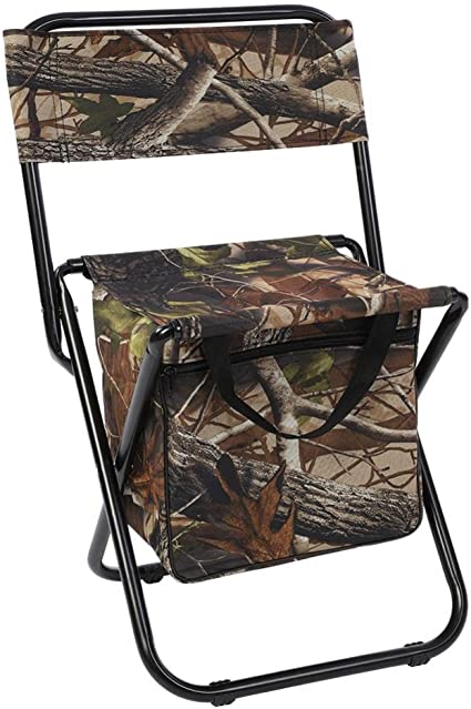 Swarokaren Camping Cooler Chair Outing Fishing Chair with Cooler Bag Pack