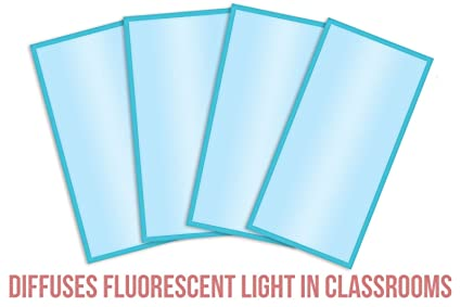 Fluorescent Light Filters Cozy Shades Softening Light Cover For Classroom  Office Autism Awareness