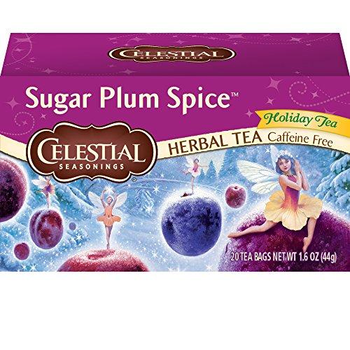 Celestial Seasonings Sugar Plum Spice Herbal Tea, 20 Count (Pack of -
