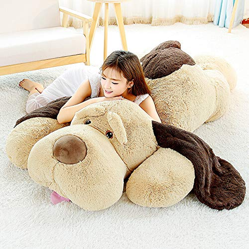 MaoGoLan Giant Stuffed Puppy Dog Big Plush Extra Large Stuffed Animals Soft Plush Dog Pillow Big Plush Toy for Girls Kids 51 inch