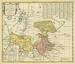 Historische Karte Potsdam.Historische Karte Amter Dahme Und Juterbog Mit Der