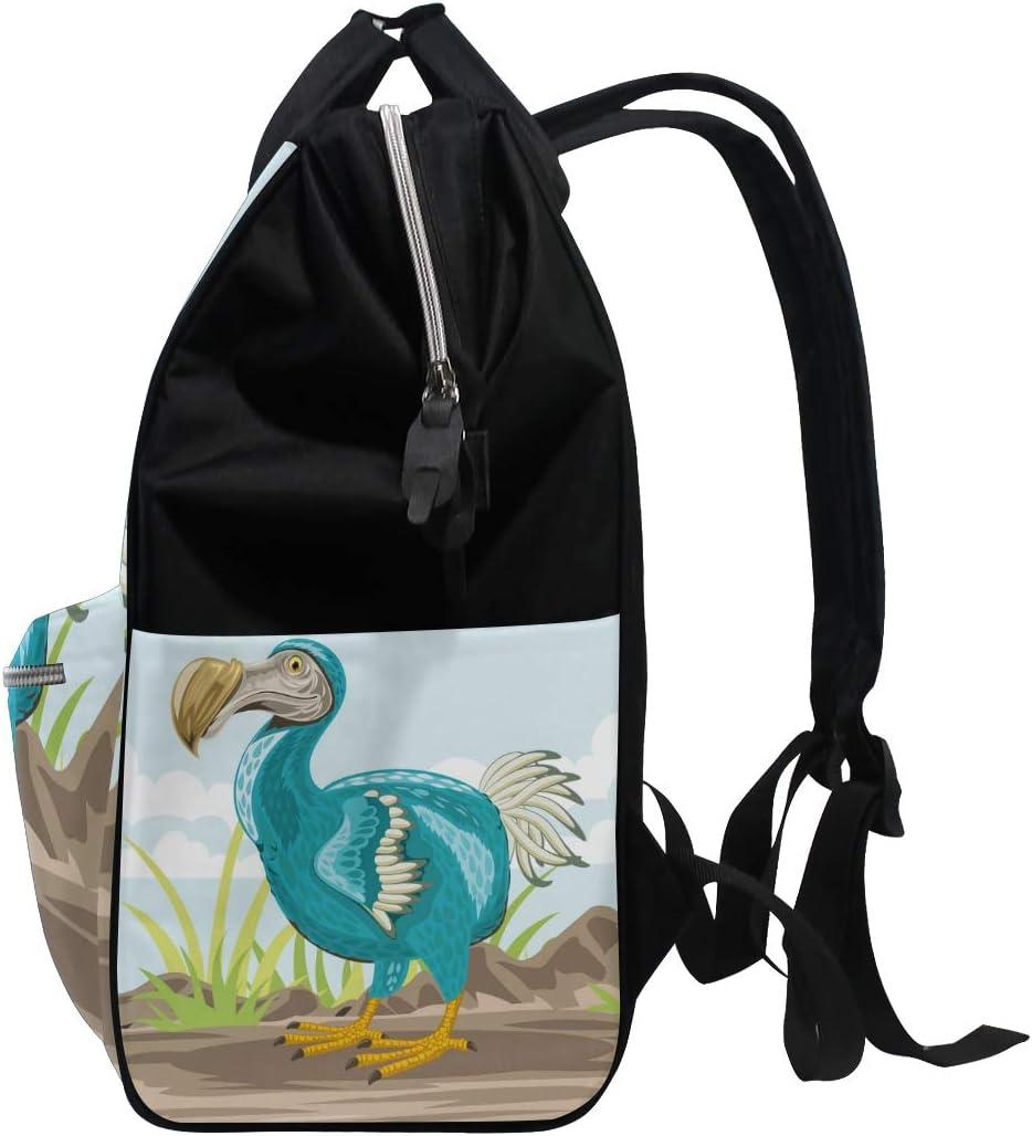 Lighthouse Albatross Bird Sunset Silhouette School Backpack Large Capacity Mummy Bags Laptop Handbag Casual Travel Rucksack Satchel For Women Men Adult Teen Children