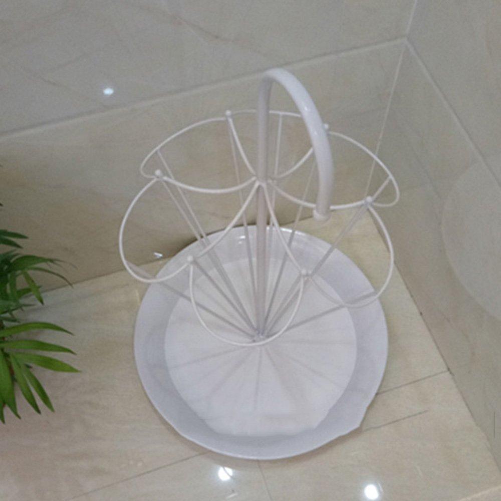 ZXQZ 傘スタンド家庭用傘ディスプレイスタンドアイアンアート傘収納棚 雨の傘の収納ラック (色 : 白) B07DD6SX1F白
