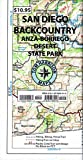 Recreation Map of the San Diego Backcountry: Waterproof, synthetic paper (Tom Harrison Maps)