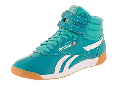 98da32ef8d Reebok Women's F/S Hi Su Solid Teal/White/Gum Casual Shoe 8 Women US ...