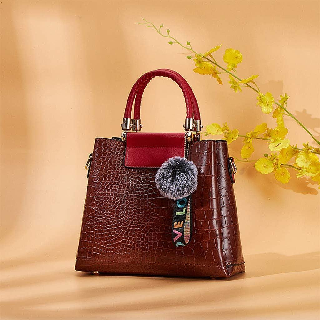 Hot Sale!DDKK bags 6Pcs Retro Handle Shoulder Tote Bags Wallets Tote Satchel Hobo Purse Set for Women Satchel Purses and Handbags Crossbody Bag Key Holder Clearance