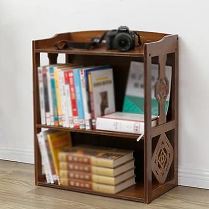 2 Layers Retro Bookshelf Bookcase Shelf Study Living Room Student Childrens Bamboo Simple Modern Minimalist