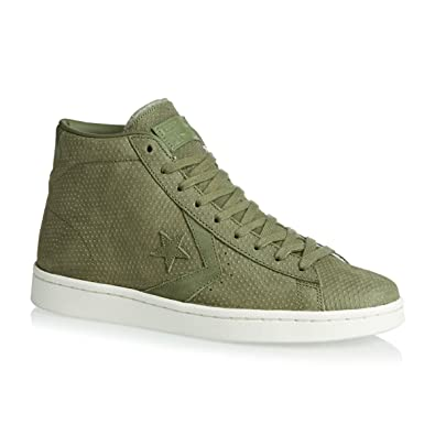 f1173a1735a Converse Unisex Pro Leather 76 Mid Fatigue Green Fatigue Green 10.5 Women    9 Men