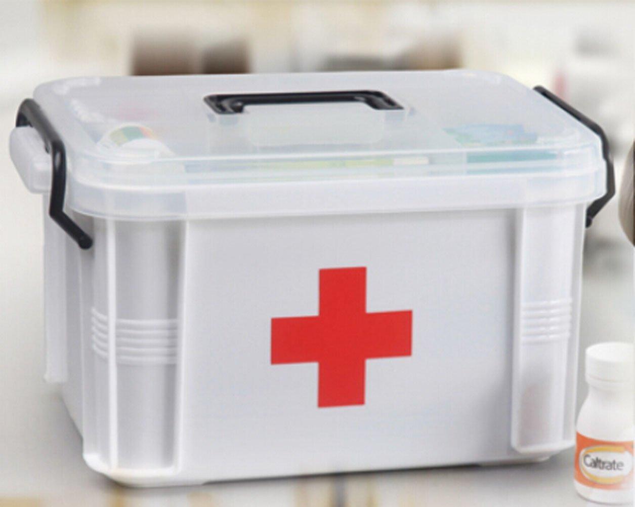 Zehui Medicine Storage Box Multilayer/medicine Cabinet 332419cm
