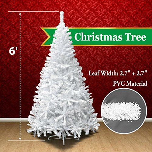 BenefitUSA Classic Pine Artificial Christmas Tree with Metal Stand,  6' Green by BenefitUSA