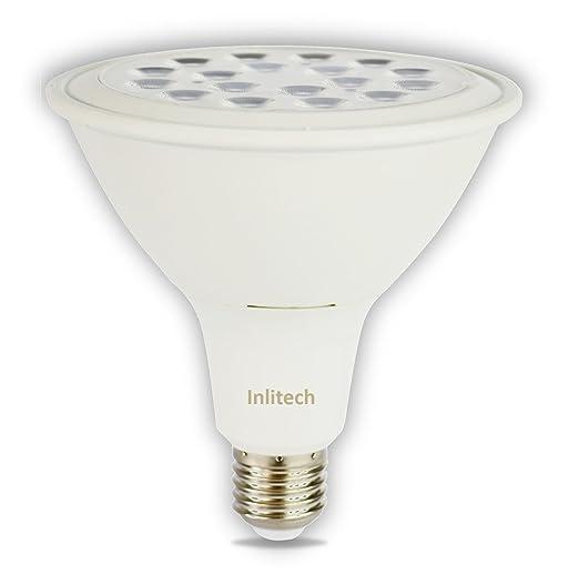 Inlitech LED Bombilla PAR38 E27 17 W equivalente a 150 W, blanco cálido (3000